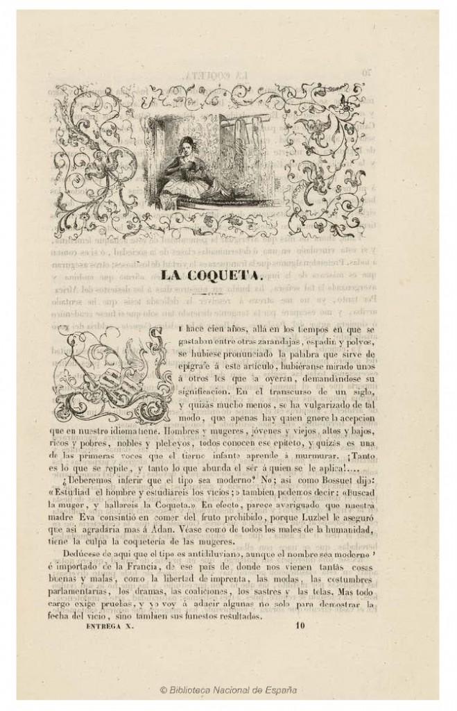 Texto de La coqueta (BNE)
