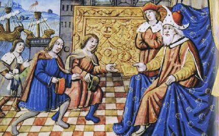 Marco Polo se encuentra con Kublai Khan (wikipedia)
